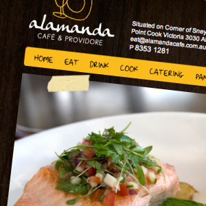Alamanda Cafe web design, branding
