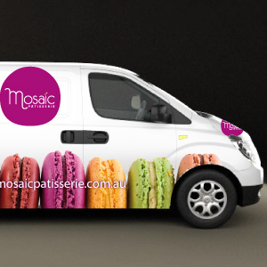 Mosaic Patisserie Van Design by Moko Creative