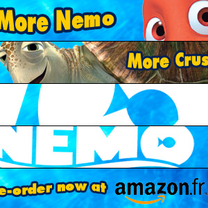 web banners for Finding Nemo