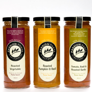 Food branding, gourmet food design - passion pasta sauce design